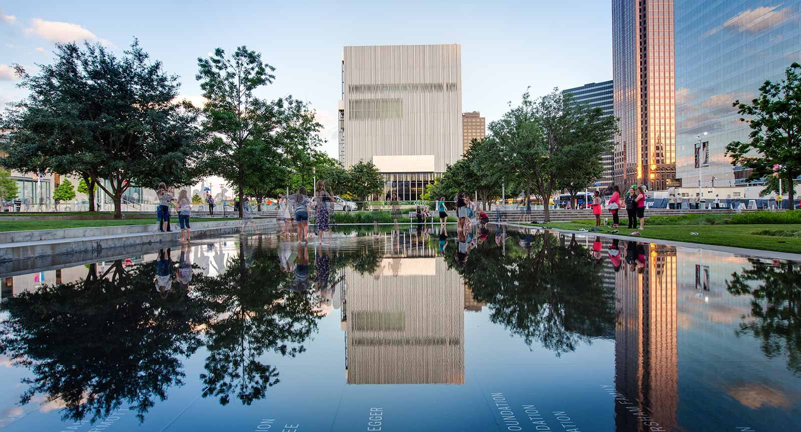 Dallas Arts District Wyly Theatre Donor Reflecting Pool Carter Rose